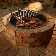 necessories compact fire ring with cooking grate zoom on