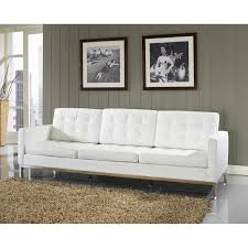 beautiful modern white couch contemporary bonded leather sectional