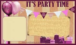 Girl Birthday Invitation Template Girls Birthday Invitation Template
