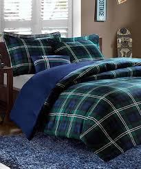 green plaid comforter. Fine Plaid Blue U0026 Green Plaid Comforter Set And