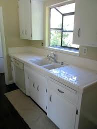 white tile countertops paint cabinets a fresh white and replace the hardware power clean grout to