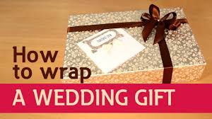 Wedding Gift Wrapper Design How To Wrap A Wedding Gift