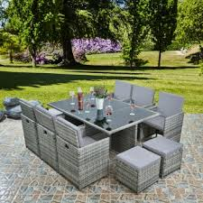 raygar deluxe 11 piece 10 seater rattan