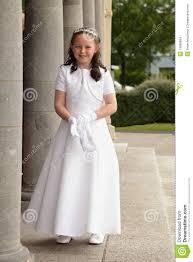 Mädchen Im Kommunionkleid. Stockbilder - Bild: 19588684