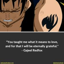 Fairy Tail Love Quotes Gorgeous 48 Of The Best Gajeel Redfox Quotes For Fairy Tail Fans