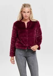 Jacqueline De Yong Size Chart Jacqueline De Yong Keira Short Faux Fur Jacket Red