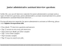 Assistant Interview Questions Junior Administrative Assistant Interview Questions