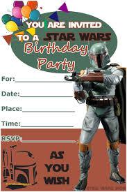 star wars birthday invite template star wars birthday invitation template free elegant boba fett free