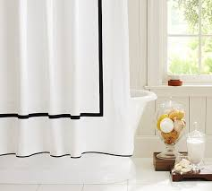 View in gallery Shower curtain with contrasting bands