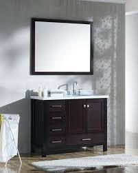How Tall Is A Bathroom Vanity Impressive Ariel Cambridge Single 48Inch Modern Bathroom Vanity Set With