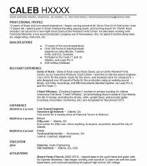 Audio Resume Sound Engineer Cv Template Magdalene Project Org