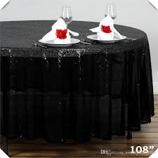 luxury glitter table cloth for party event nice sequin table cover 275cm round black banquet table cloths table clothing easter table linens from