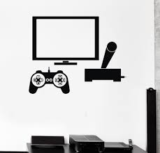 home office decor games. Computer Vinyl Wall Sticker Video Game Gamer PC Play Room Boy Teen Mural Art Decal Shop Office Home Decoration-in Stickers From \u0026 Garden Decor Games