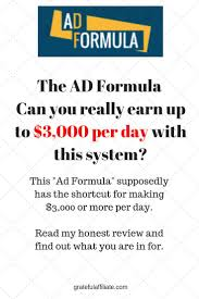 Sales Per Day Formula Ad Formula Review Can You Really Earn Up To 3 000 Per Day