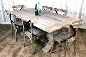 distressed white round dining table whitewashed set diy