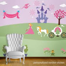 Princess Wallpaper For Bedroom Princess Bedroom Wall Mural Stencils For Girls Room