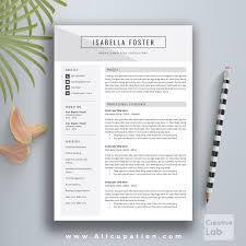Creative Resume Template, CV Template, Cover Letter, 1, 2, 3 page ...