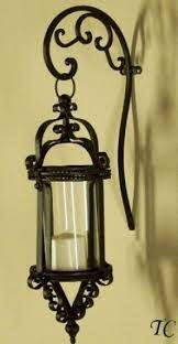 tuscany wrought iron scroll wall candle
