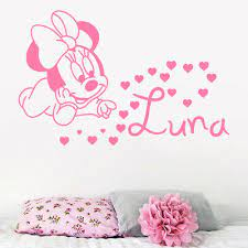 personalised minnie mouse wall stickers