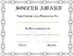 Free Soccer Certificate Templates Soccer Certificate Word Format Download Award Template