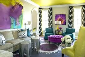 yellow and purple living room decoration black white and purple living room ideas gray curtains grey
