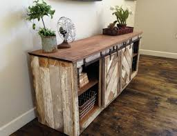 diy console table unit with sliding doors