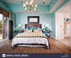 Blaues Schlafzimmer Stockfotos Blaues Schlafzimmer Bilder Alamy