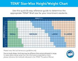 Weight Size Chart Health Products For You Incontinence Size Charts