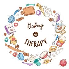 Baking is therapy! [Video]   Logotipo de postres, Logos de pastelerias,  Logotipo de pastelería