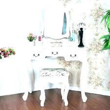 kids vanity table wooden dressing mirror set little girl childrens