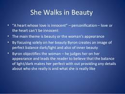 byron she walks in beauty she walks in beautybull
