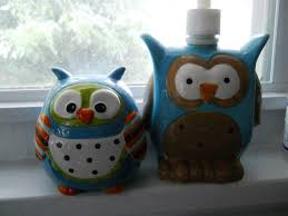 image of owl kitchen decor canisters