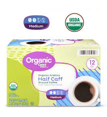 Can you froth half and half? Great Value Organic Arabica Half Caff Coffee Pods Medium Roast 12 Count