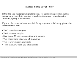 How To Write A Cover Letter For Recruitment Agency Agency Nurse Cover Letter