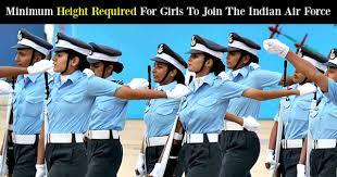 Height And Weight Chart For Air Force Females Minimum Height Required For Girls To Join The Indian Air Force