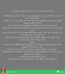 crusade prayer 74 for gift of discernment crusade of prayer tomankind