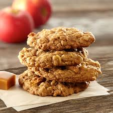 apple oatmeal. caramel apple oatmeal cookies c