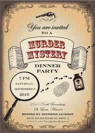 dinner party invites templates printable murder mystery party invitation template