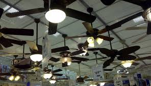 display of a variety of ceiling fans