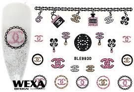 Glitter Nail Sticker Ble993 Chanel