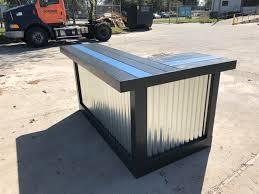 patio bar.  Patio The Police Bar  7u0027 X 4u0027 Outdoor Patio Bar Or Indoor Dry Bar Sales  Counter Reception Desk With Patio