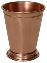 MarktSq Beaded <b>Pure Copper</b> Mint Julep Cup in <b>Shiny</b> Finish - 14 oz