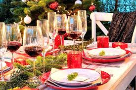 Table De Noel Rouge Table Noel Rouge Or 4 Table De Noel Rouge Blanc ...