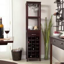 corner buffet with wine rack