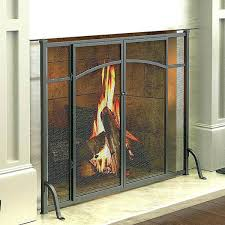 brass fireplace doors farmhouse screen great with best ideas on style polished glass