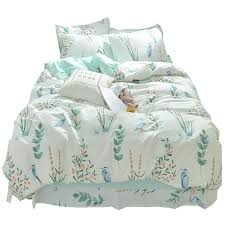 past plant bedding set 100 cotton beauty flowers printed bed linens ins bedclothes flat sheet fitted sheet duvet cover set bedding sheet sets toddler