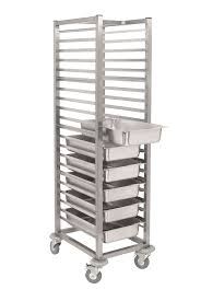 stainless steel gastronorm tray trolley sct900