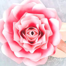 Paper Flower Templates Free Download Free Large Paper Rose Template Giant Flower Pdf Insuremart