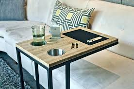 adjustable c table. C Table With Cup Holder Tray For Couch Sofa Tables Amazing Design Black . Adjustable