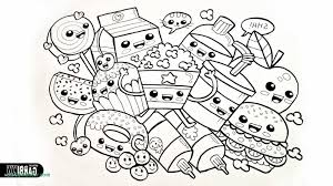 Healthy Food Coloring Pages For Preschool Fresh Kawaii Food Coloring